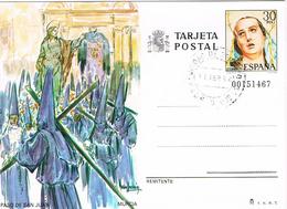 Spanien Bildpostkarte - Büßer- Prozession Paso De San Juan Murcia - Religion, Brauchtum - Ganzsachen