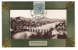 SLOVENIE  /  MARBURG - A. - DRAU  ( MARIBOR ) /  VUE  GENERALE  ( Façon Cadre En Bois ) /  Edit.  Anton  SCHLAUER , Graz - Slovénie
