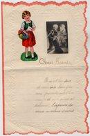 VP13.689 - Sart Dames Avelines ( VILLERS LA VILLE ) 1943 - Lettre Illustrée Découpis Enfant Papier Gaufré - Children