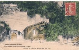 Cpa 16 Aubeterre Façade église - Autres Communes