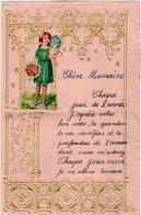 VP13.690 - Sart Dames Avelines ( VILLERS LA VILLE ) 1948 - Lettre Illustrée Découpis Enfant Papier Gaufré - Enfants