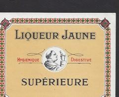 Etiquette De  Liqueur Jaune Supérieure - Etiquettes