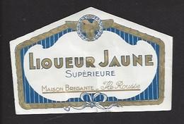 Etiquette De  Liqueur Jaune Supérieure  -  Maison Brégante à Ile Rousse Corse  (20) - Etiquettes