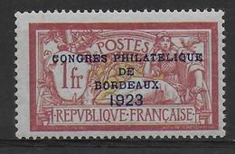 1923 - YVERT N° 182 ** - LUXE SANS CHARNIERE SIGNE SCHELLER - COTE = 925 EUR. - - France