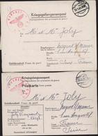 Kriegsgefangenenpost Correspondance Prisonnier Guerre Stalag Censure Geprüft KBAB5 Bataillon Maçons Mannheim Sandhofen - Allemagne