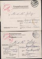 Kriegsgefangenenpost Correspondance Prisonnier Guerre Stalag Censure Geprüft KBAB5 Bataillon Maçons Mannheim Sandhofen - Brieven En Documenten