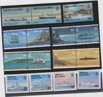 TRISTAN DA CUNHA (GRANDE BRETAGNE) Lot 15 T Neufs Xx - Bateaux Signaux Reinstallation Royal Navy - Schiffe