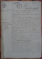Manuscrit De 1822.Mlle Morel à Alençon,Mr Leguey à Vivoin,vente à Mr Guerrier,peintre,maison 52 Grande Rue Alençon. - Manuscripts