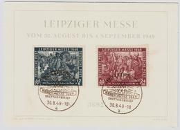 "SBZ, 1949, Gedenk-Karte "" Leipziger Messe ""  , #a1696 - Sowjetische Zone (SBZ)"