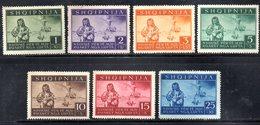 405 490 - ALBANIA Tedesca 1944 , Vittime Di Guerra (sassone N. 15/21, Yvert N. 312/18) : Serie Senza Gomma - Albania