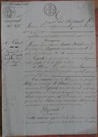 Manuscrit De 1821.Mme Fousset-Mesnil à Alençon,vend à Mr Latour,Pharmacien,maison 24 Rue Des Granges à Alençon. - Manuscripts