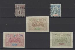 OBOCK. YT   N° 12-37-55-57-59  Neuf *   1890 - Unused Stamps
