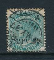 INDIA, 1867 4As SERVICE Die I - India (...-1947)