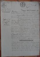 Manuscrit De 1821.Mr Clouet à Alençon,vend à Mr Leperche, Maison Rue Du Mans à Alençon. - Manuscripts