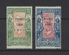 ST PIERRE ET MIQUELON. YT   N° 286/287 Neuf **/*  1942 - St.Pierre Et Miquelon