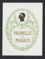 Etiquette  De Prunelle Du Maquis  -   Corse   (20) - Etiquettes