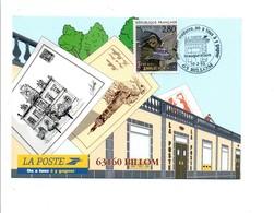 OBLITERATION INAUGURATION POSTE MODERNE DE BILLOM PUY DE DOME 1995 - Commemorative Postmarks