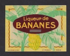 Etiquette  De Liqueur De Bananes - Etiquettes