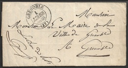 1838 - LAC Imprimé - GRENOBLE - ADMINISTRATION DES POSTES - Lettre Officielle Au Maire - 1801-1848: Precursors XIX