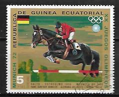 GUINEE  EQUATORIALE      -    JUMPING  /  EQUITATION    -        Oblitéré - Jumping