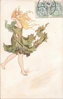 """Cognac EL PROGRESO - Louis ROYER Et Cie - Femme En Robe """"végétale""""(Art Nouveau). - Illustrateurs & Photographes"""