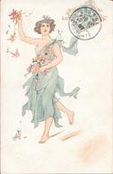 """Cognac EL PROGRESO - Louis ROYER Et Cie - Femme En Robe """"légère""""(Art Nouveau). - Illustrateurs & Photographes"""