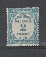 "FRANCE / 1927-1931 / Y&T TAXE N° 61 : ""... à Percevoir"" 2F Bleu - Choisi - Cachet Rond - 1859-1955 Used"