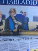 Fréttabladied, Journal Islandais, Du 23/08/2017 - Libros, Revistas, Cómics