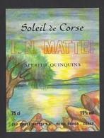 Etiquette  D'Apéritif Quinquina  -  Soleil De Corse  -  Cap Corse Mattei SA à Borgo  Corse (20) - Etiquettes