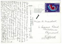 Ref 1245 - 1973 Andorra Postcard - 90c Rate To England - Andorra