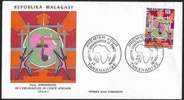 1973 - MADAGASCAR - FDC + Y&T 529 [O.U.A.] + TANANARIVE - Madagascar (1960-...)