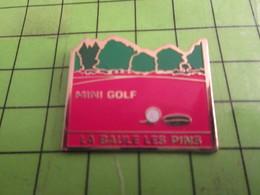 216C Pins Pin's / Rare & Belle Qualité THEME SPORTS / MINI GOLF LA BAULE LES PINES - Beverages