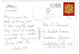 Ref 1245 - 2005 Andorra Postcard - NVI Rate To England - Andorra