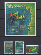 Sao Tome E Principe 1978 3th Anniversary Of The Independance Day 3v + M/s Used (cto) (41511) - Sao Tome En Principe