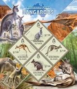 SOLOMON ISLANDS 2013 SHEET EXTINCT KANGAROOS KANGURUS KANGOUROUS CANGURI CANGUROS WILDLIFE Slm13410a - Solomoneilanden (1978-...)