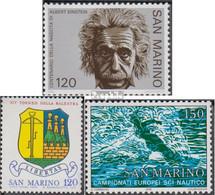 San Marino 1174,1180,1181 (kompl.Ausg.) Postfrisch 1979 Albert Einstein, Schützen, Wassersk - Ungebraucht