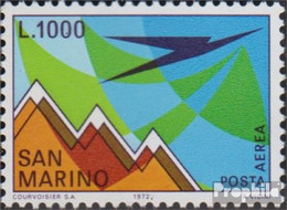 San Marino 1016 (kompl.Ausg.) Postfrisch 1972 Flugpostmarke - Ungebraucht