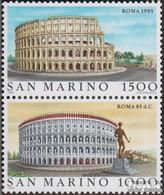 San Marino 1329-1330 Paar (kompl.Ausg.) Postfrisch 1985 Weltstädte - Rom - Neufs