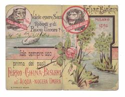 CALENDARIETTO   FERRO CHINA BISLERI  1894  SEMESTRINO - Calendari