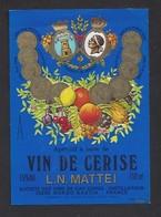 Etiquette D' Apéritif à Base De VIn De Cerise  Mattei -  Sté Des Vins Du Cap Corse  à Borgo  Bastia  Corse (20) - Etiquettes