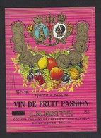 Etiquette D' Apéritif à Base De VIn De Fruit Passion  Mattei -  Sté Des Vins Du Cap Corse  à Borgo  Bastia  Corse (20) - Etiquettes