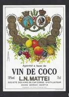 Etiquette D' Apéritif à Base De VIn De Coco  Mattei -  Sté Des Vins Du Cap Corse  à Borgo  Bastia  Corse (20) - Etiquettes