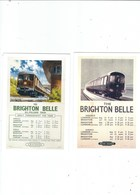 2 POSTCARDS OF NATIIONAL RAIL MUSEUM POSTERS ON POSTCARD   THE BRIGHTON BELLE - Railway