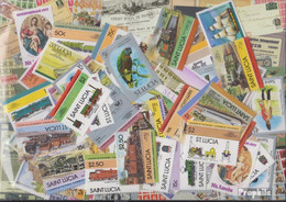 St. Lucia Briefmarken-75 Verschiedene Marken - St.Lucia (1979-...)