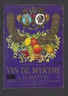 Etiquette D' Apéritif à Base De VIn De Myrthe  Mattei -  Sté Des Vins Du Cap Corse  à Borgo  Bastia  Corse (20) - Etiquettes