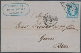 FRANCE - Folded Letter From Lyon 23.4.1958 - 1853-1860 Napoléon III