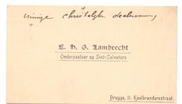 Visitekaartje - Carte Visite - Onderpastoor - E.H. G. Lambrecht - Brugge - Cartes De Visite