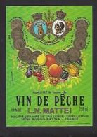 Etiquette D' Apéritif à Base De VIn De Pêche  Mattei -  Sté Des Vins Du Cap Corse  à Borgo  Bastia  Corse (20) - Etiquettes
