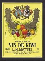 Etiquette D' Apéritif à Base De VIn De Kiwi  Mattei -  Sté Des Vins Du Cap Corse  à Borgo  Bastia  Corse (20) - Etiquettes