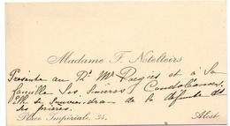 Visitekaartje - Carte Visite - Madame F. Notelteirs - Alost Aalst - Cartes De Visite